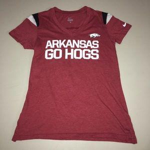 Nike Arkansas Razorbacks Go Hogs Tshirt Red Medium